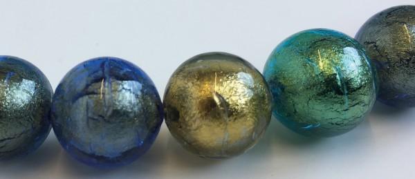 Murano-Armband Grün-Blau-Gold