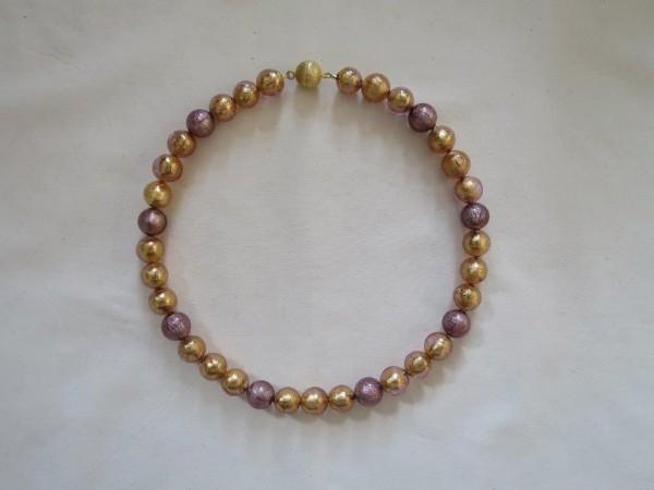 Murano-Collier Rosa-Gold