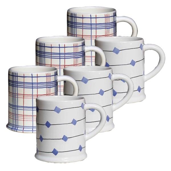 Keramik-Tassen 6er Set