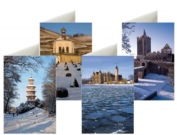 Briefkarten: Winterlicht