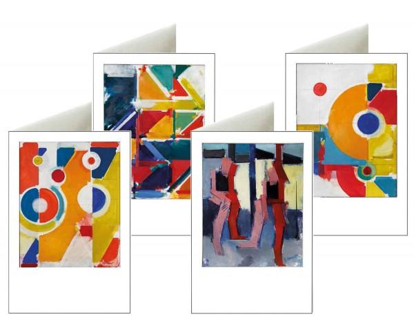 Briefkarten: Fröhliche Geometrie
