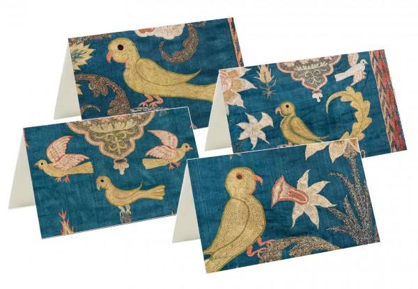 Briefkarten: Vögel im Seidenglanz