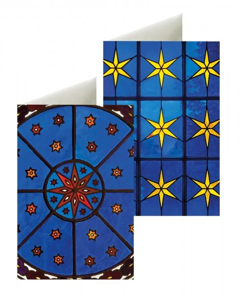 Briefkarten: Sternen-Fenster