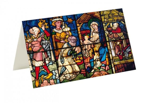 Briefkarten: Fensterbild Werben