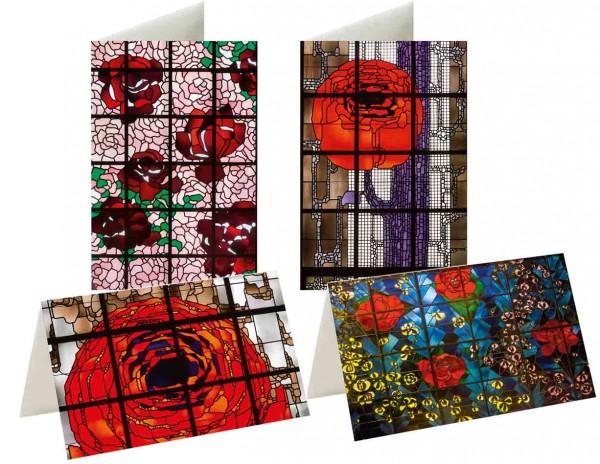 Briefkarten: Rosenfenster Gottfried Böhm