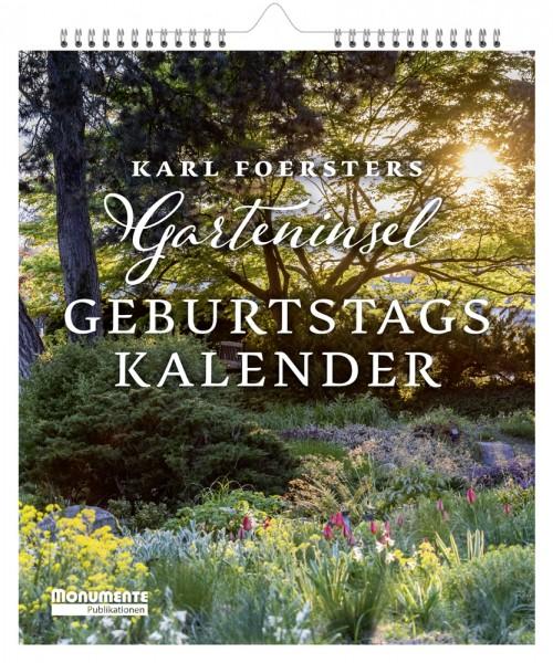 Kalender Karl Foersters Garteninsel. Geburtstagskalender 2021