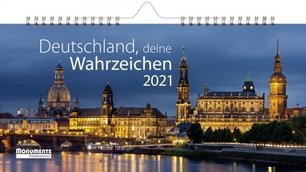 Panorama-Kalender - Deutschland, deine Wahrzeichen. 2021