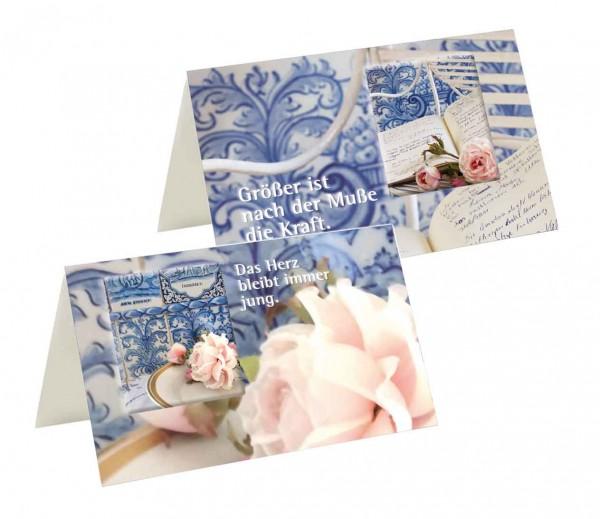 Briefkarten: Rosenromantik