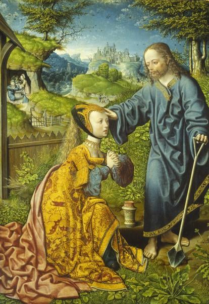 Briefkarten: Christus als Gärtner