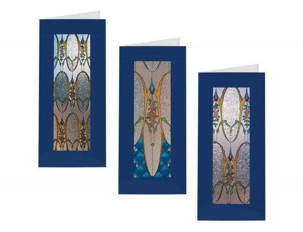 Briefkarten: Glasperlenfenster