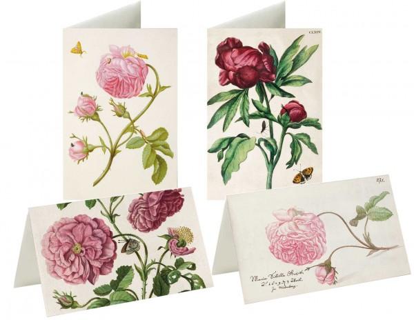 Briefkarten: Rosenwelt Merian