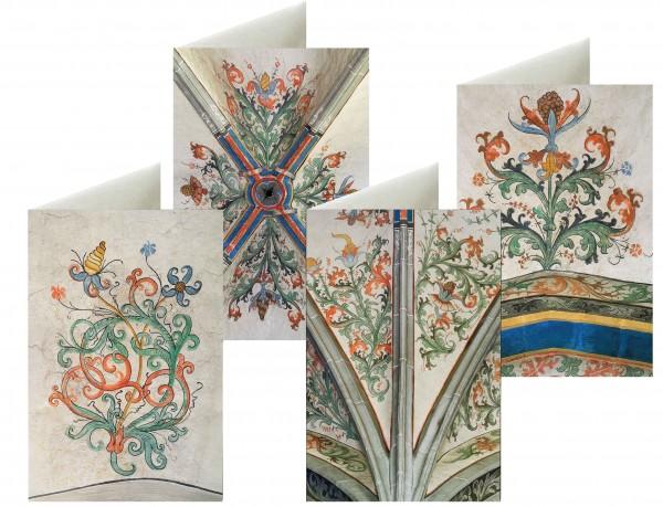 Briefkarten: Blütengewölbe