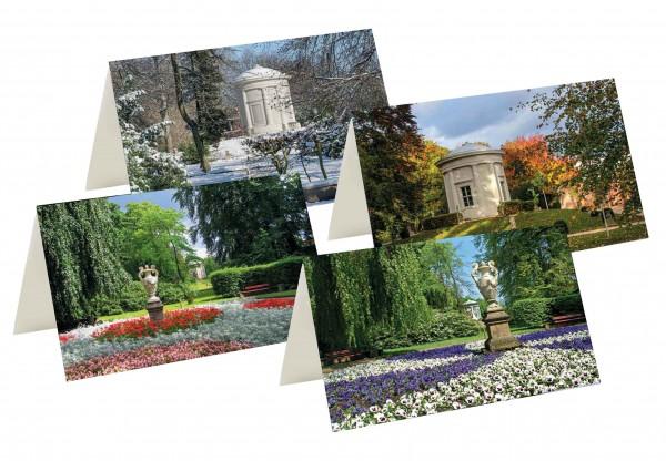 Briefkarten: Vier Jahreszeiten im Tempelgarten