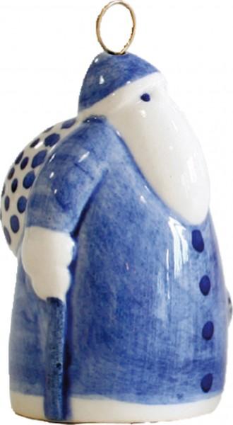 Keramik-Weihnachtsmann blau