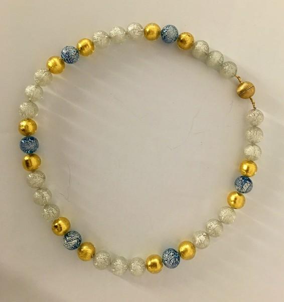 Murano-Collier Schneekristall