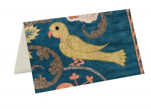 Briefkarten Vögel im Seidenglanz