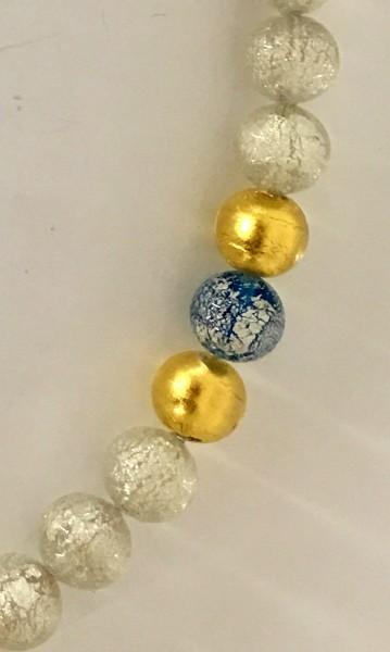 Murano-Armband Schneekristal