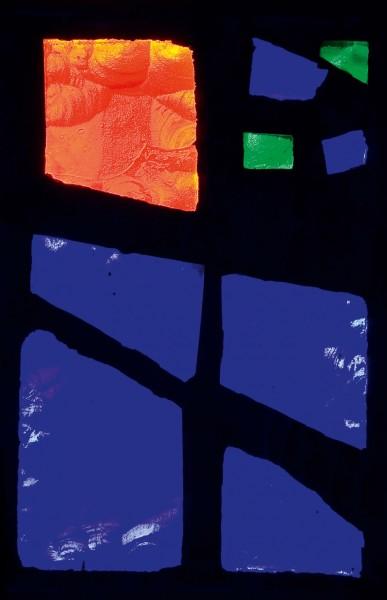 Briefkarten: Blaues Licht