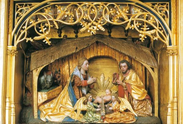Briefkarten: Goldene Weihnacht