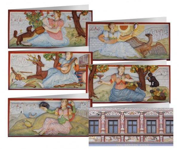 Briefkarten: Die fünf Sinne