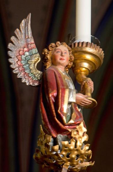Briefkarten: Leuchter-Engel
