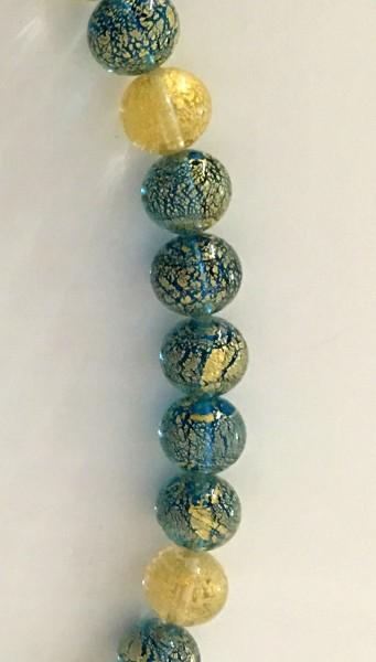 Murano-Armband Türkis-Honig