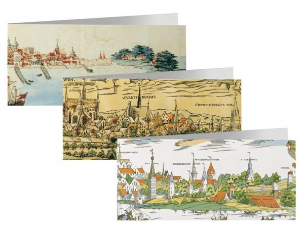 Briefkarten: Stadtsilouette