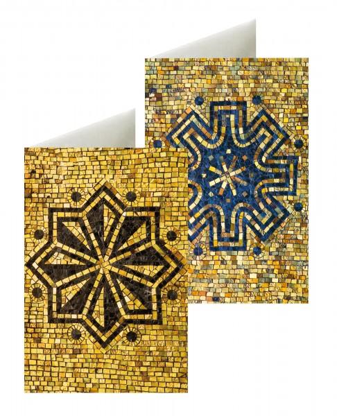 Briefkarten Mosaiksterne