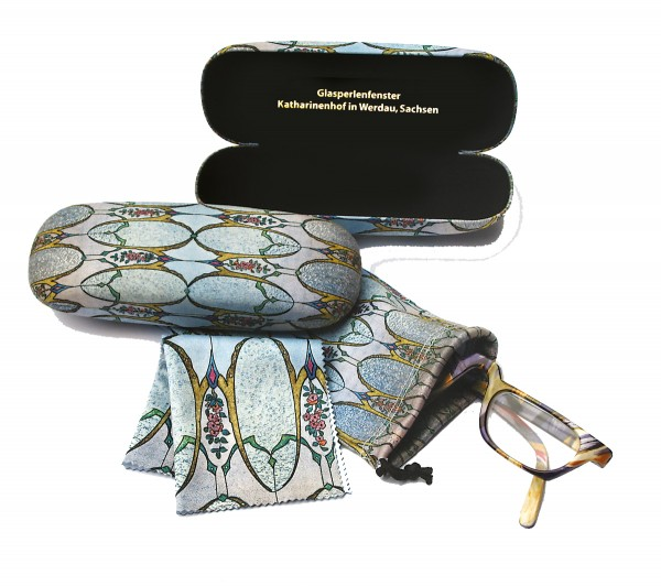 Brillentuch und Beutel Glasperlen
