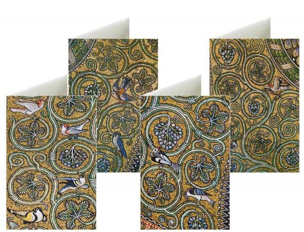 Briefkarten: Weinlaube Mosaik