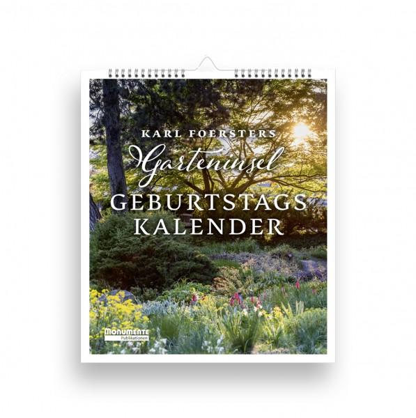 Kalender Karl Foersters Garteninsel. Geburtstagskalender