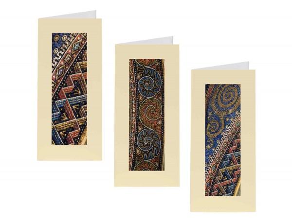Briefkarten: Mosaik-Mäander