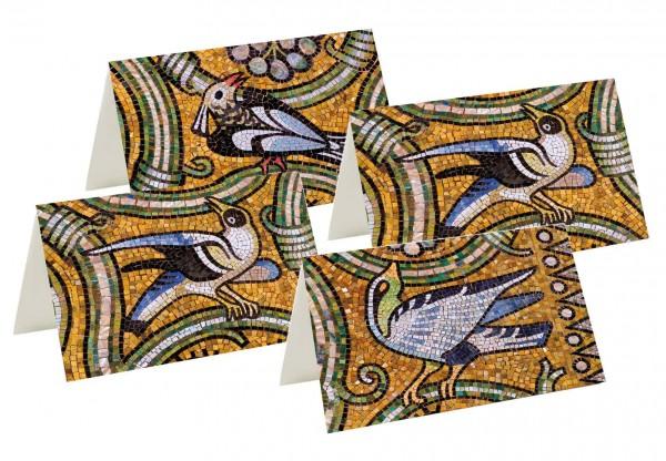 Briefkarten: Vogelgezwitscher Mosaik