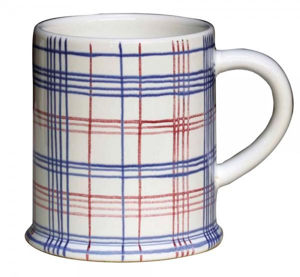 Keramik-Tasse Bollhagen Fadenkaro