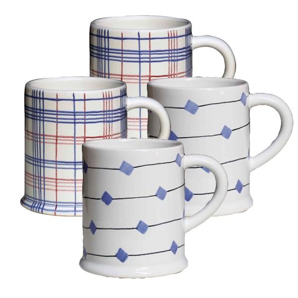 Keramik-Tassen 4er Set