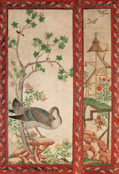 Briefkarten: Tapete aus Schloss Paretz